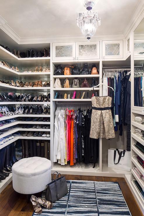 Built In Shoe Shelves Transitional Closet La Closet