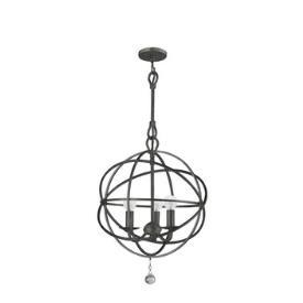 Bronze armillary sphere three light chandelier aloadofball Image collections