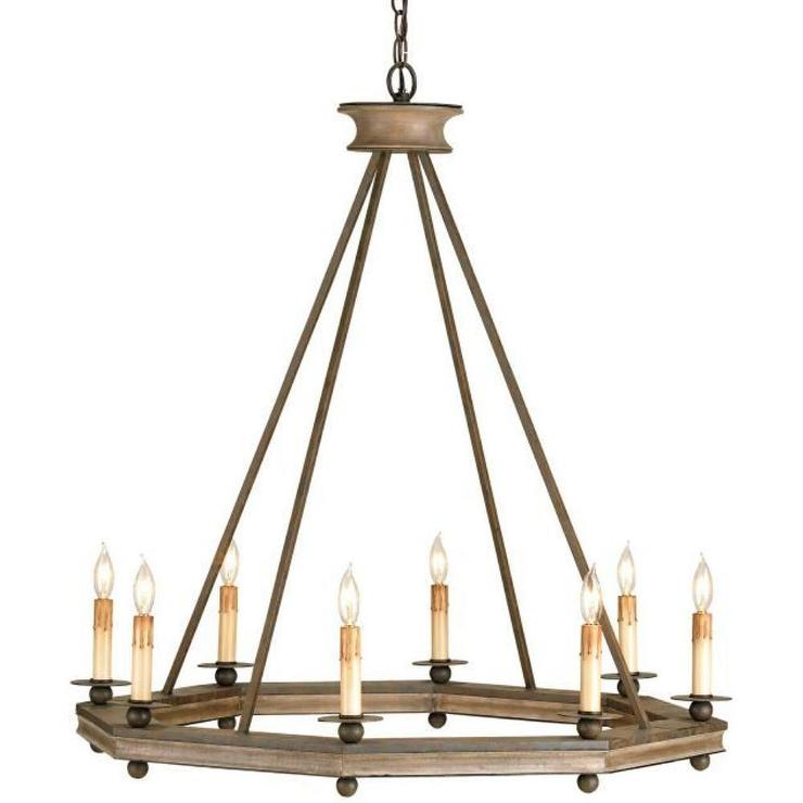 Lighting Companies: Currey And Company Bonfire Eight Light Chandelier I 1 Stop