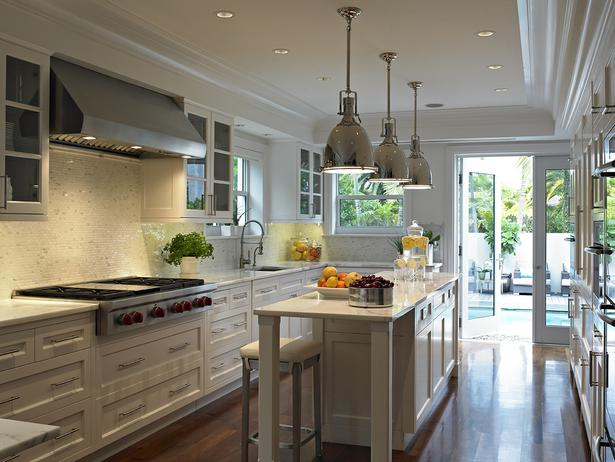 Long Kitchen Transitional Kitchen Deborah Wecselman Design