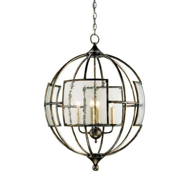 Currey And Company Orb Chandelier: Currey And Company Broxton Orb Four Light Chandelier I 1