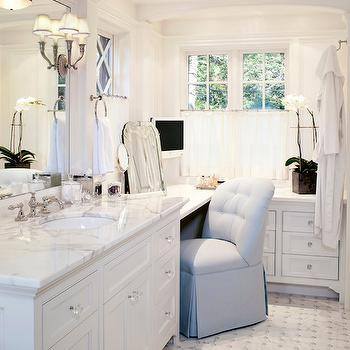 Built In Bathroom Vanities l shaped bathroom vanity design ideas