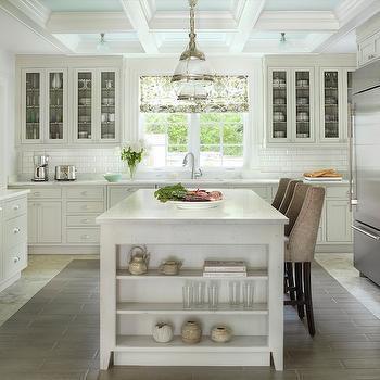 Kitchen with Coffered Ceiling, Transitional, kitchen, Mitchell Wall Architecture and Design
