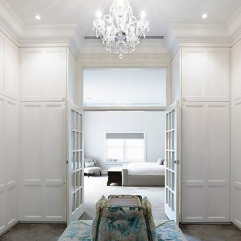Closet with French Doors, Transitional, closet, Canny Design