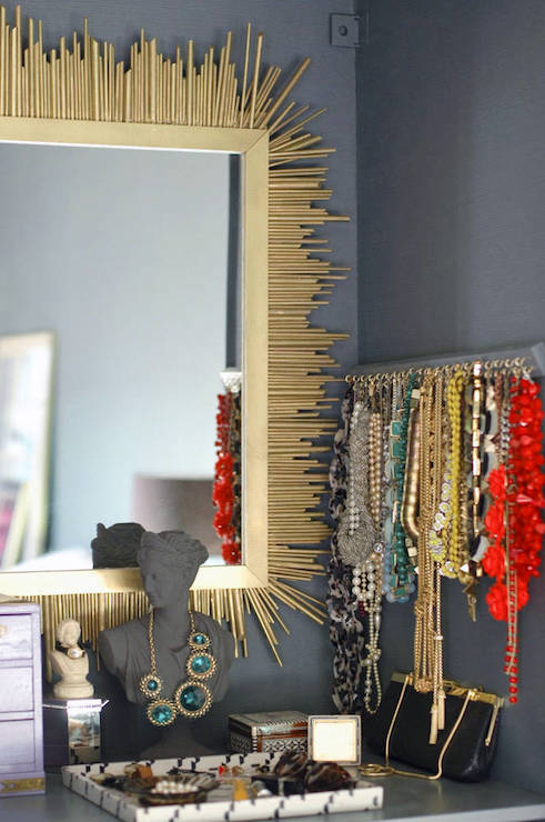 Wall Jewelry Rack Contemporary closet Benjamin Moore Knoxville