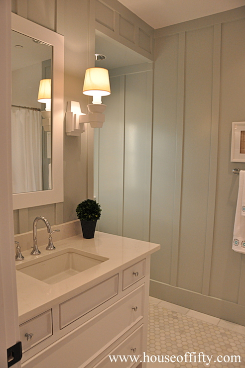 Ivory Quartz Countertops Cottage Bathroom House Of Fifty