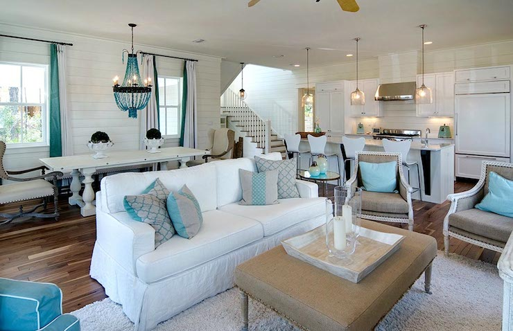 Open concept living room design ideas - Beach design living rooms ...
