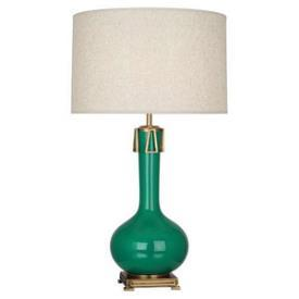Iridescent Gourd Seafoam Green Table Lamp