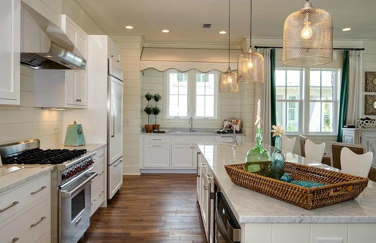 Cage Pendant Cottage Kitchen Romair Homes - Large island pendants