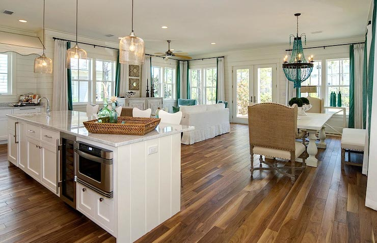 Open Concept Kitchen Cottage Kitchen Romair Homes