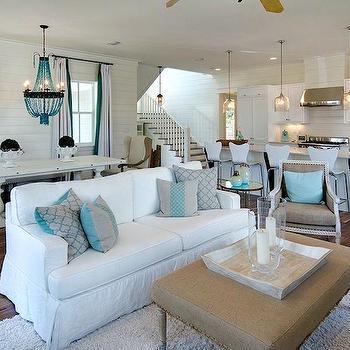 Open Plan Living Room, Cottage, living room, Romair Homes