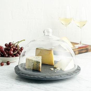 Slate + Glass Domed Tray, west elm