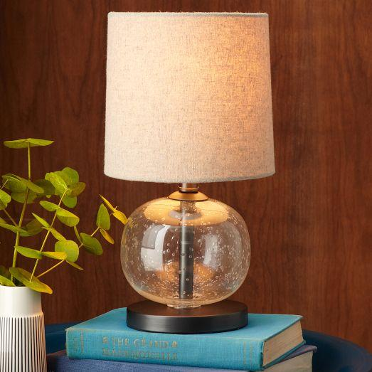Mini Abacus Clear Sphere Glass Table Lamp