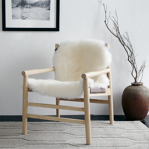 Maddox Brown Leather Sling Chair