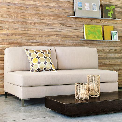 Armless Upholstered Ivory Sofa : west elm armless sectional - Sectionals, Sofas & Couches
