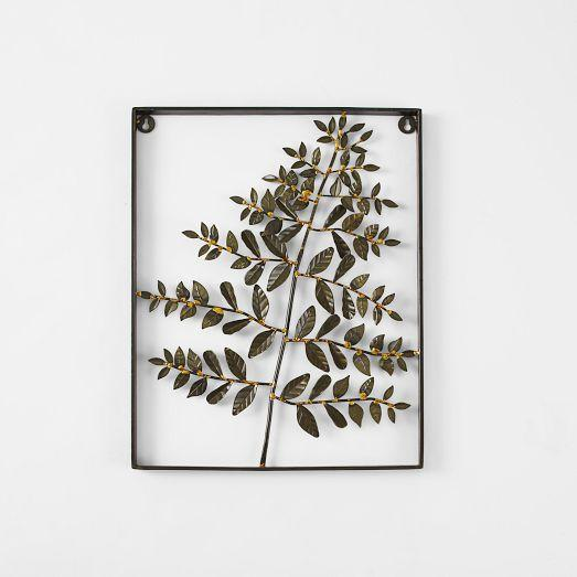 Metal Green Fern Display Wall Art