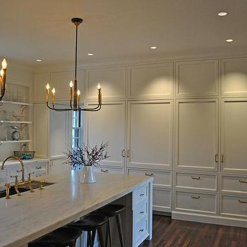Painted Kitchen Cabinets, Transitional, kitchen, Farrow and Ball Pointing, Huestis Tucker Architects
