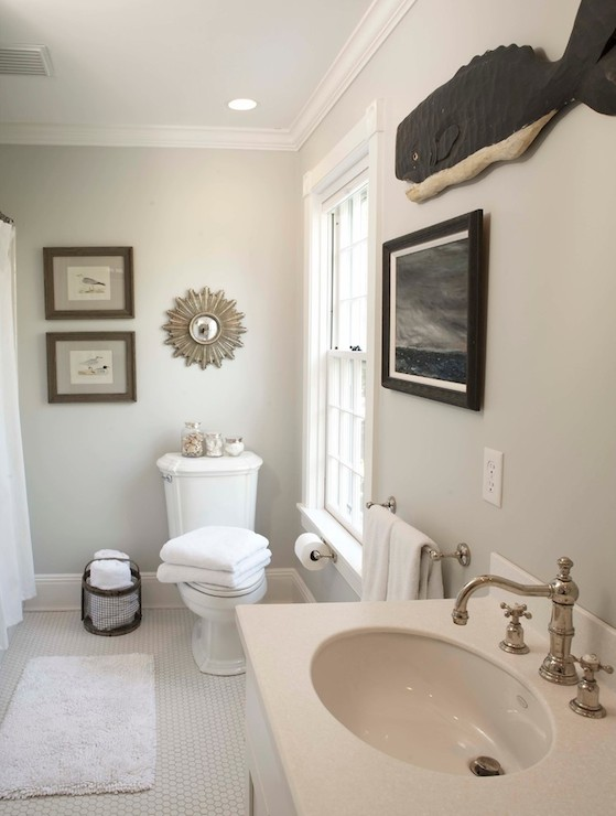Edgecomb Gray Traditional Bathroom Benjamin Moore