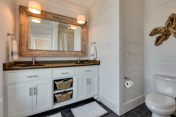 Whitewashed Walls Cottage Bathroom Pat O Neal Interiors