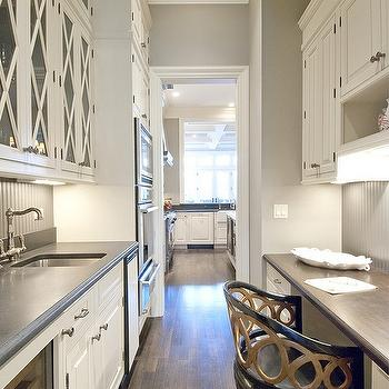 Long Butler's Pantry, Transitional, kitchen