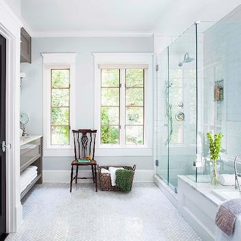 Walk in shower with Attached bathtub, Transitional, bathroom, TerraCotta Properties