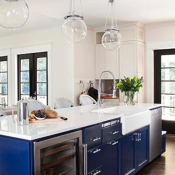 Blue Kitchen Island, Transitional, kitchen, TerraCotta Properties