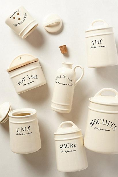 Superbe French Bistro Ivory Canisters