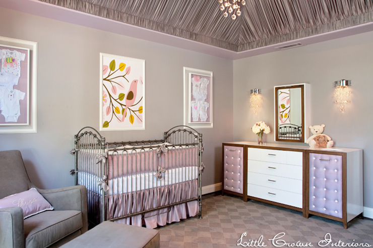 Purple And Gray Nursery Transitional Nursery Little