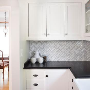 Statuary White Marble, Transitional, kitchen, Benjamin Moore Simply White, Rom Architecture Studio