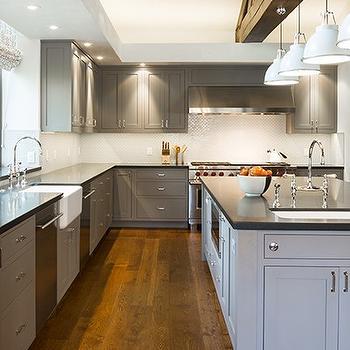 Dark Gray Cabinets, Contemporary, kitchen, Elizabeth Dinkel Design