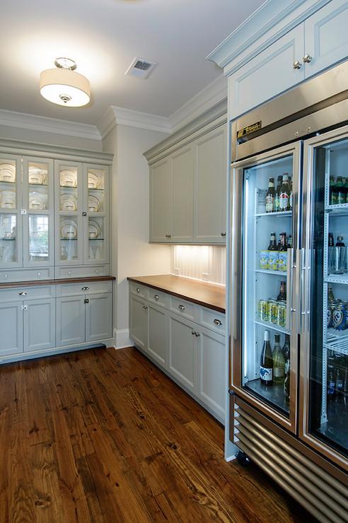 Beadboard Backsplash Kitchen Dark Cabinets