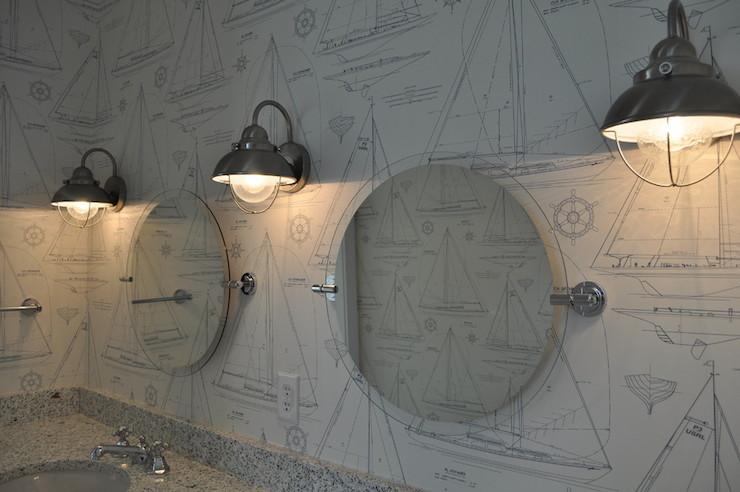 Ralph lauren chesapeake wallpaper cottage bathroom for Ralph lauren bathroom ideas