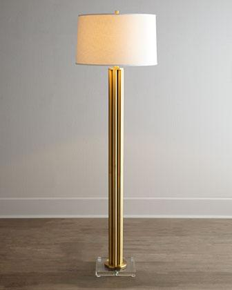 Murray Feiss Dorset Gold Columns Floor Lamp