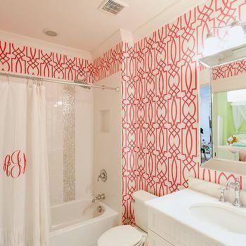 pink trellis wallpaper