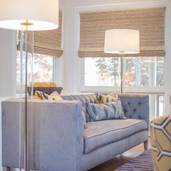 Modern Gray Tufted Back Sofa Design Decor Photos Pictures Ideas
