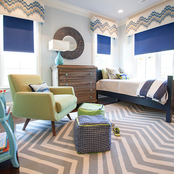 Gray Chevron Rug, Contemporary, boy's room, Lucy and Company
