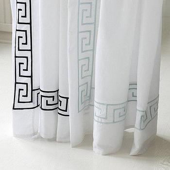 Greek Key Shower Curtain, Ballard Designs