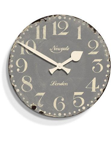 Parsons Ivory Bone Inlay Herringbone Wall Clock