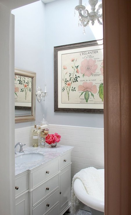 Shabby chic bathroom cottage bathroom apartment therapy for Shabby chic wall tiles