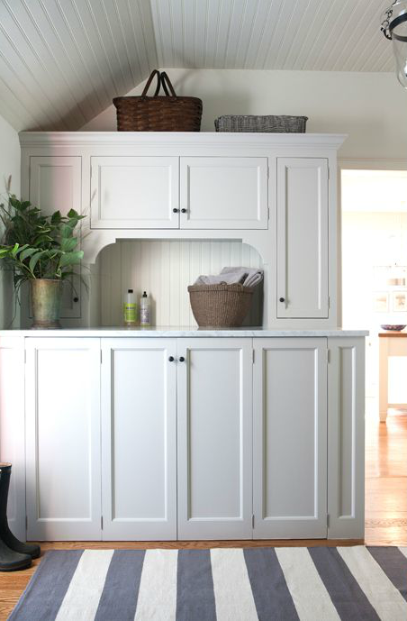 Hidden Washer And Dryer Cottage Laundry Room Sage Design