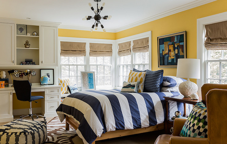 Striped Duvet Contemporary Boy S Room Katie