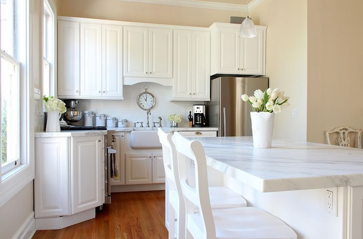 Home Depot Kitchen Cabinets Transitional Kitchen Valspar Cream In My Coffee Apartment Therapy