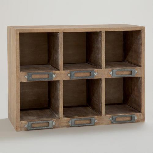 Natural Owen Six Storage Desk Cubby