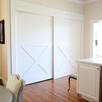 Hidden Laundry Room, Transitional, kitchen, Valspar Cream in My Coffee, Apartment Therapy