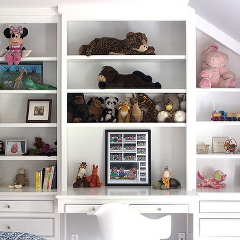 Kids Built In Desk, Traditional, girl's room, Sage Design