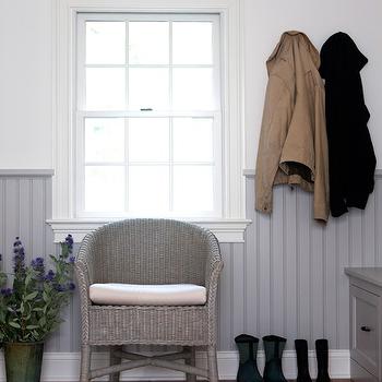 Gray Beadboard, Cottage, laundry room, Sage Design
