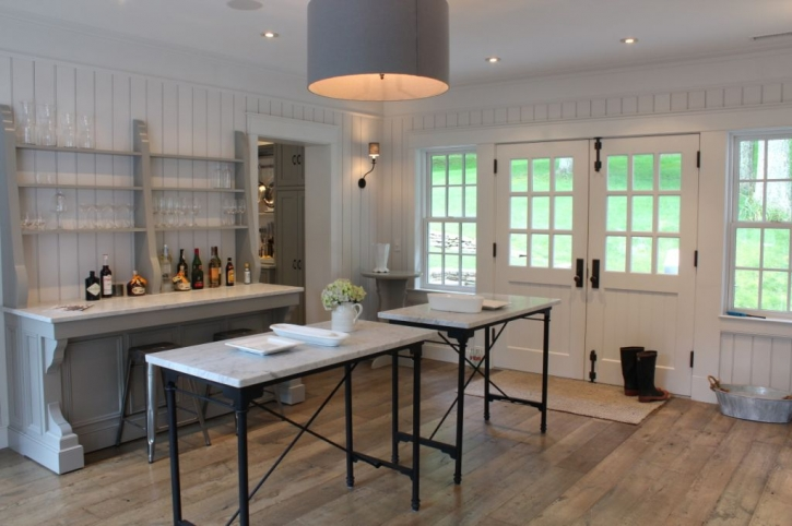 French Kitchen Island - Cottage - kitchen - Talk of The House