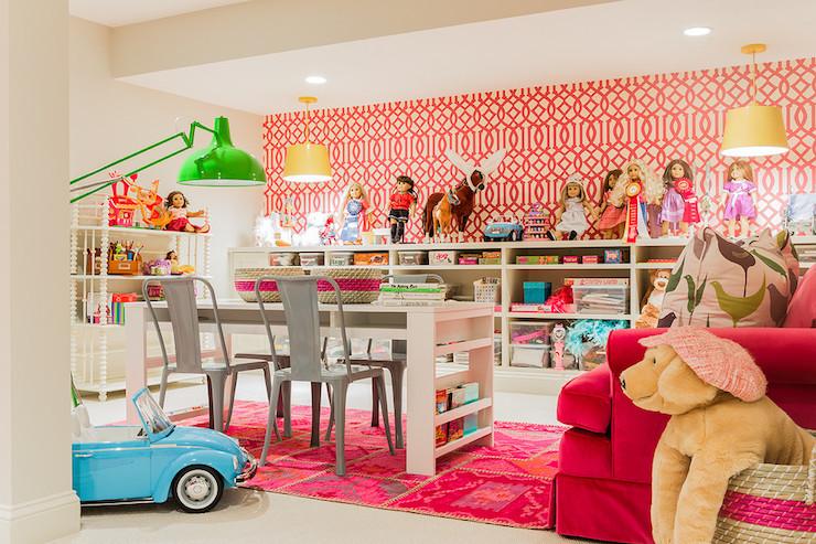 Basement Playroom Contemporary basement Hudson Interior Designs