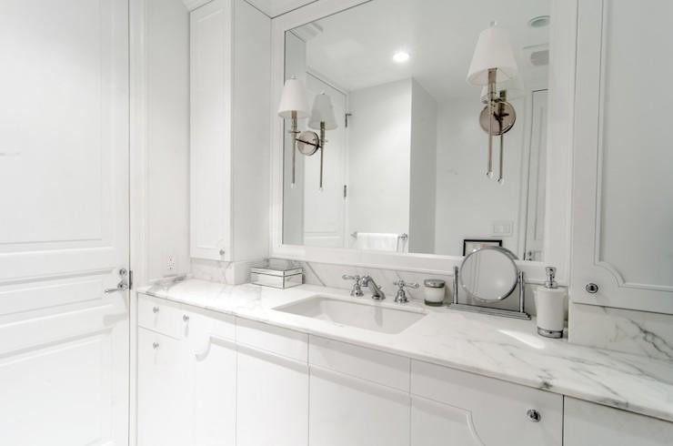All White Bathroom Contemporary Bathroom Leib Design