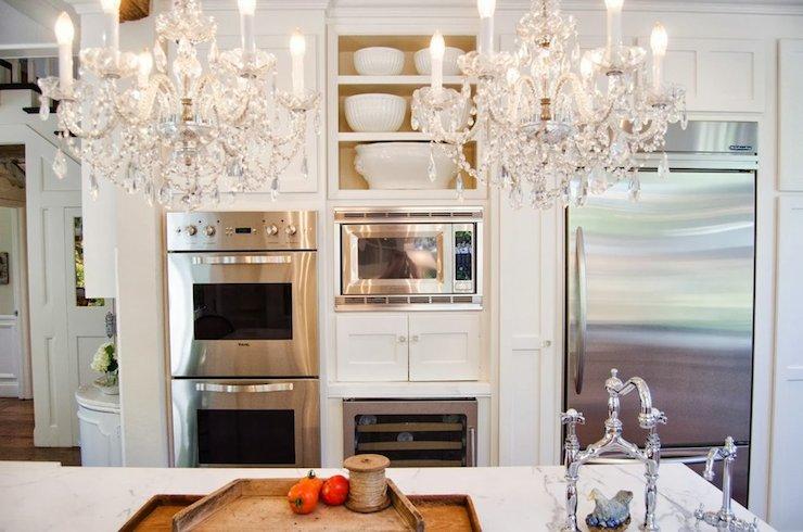 Built In Microwave Nook French Kitchen Benjamin Moore Swiss
